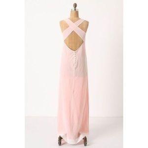 Anthro Blush Maxi Dress